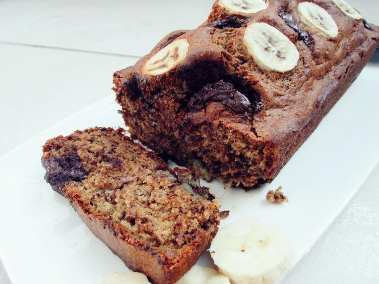 chocolate and banana vegan bread